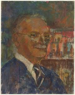 Barbara Doyle (b.1917) - Contemporary Oil, Portrait Of A Gentleman