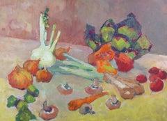 Barbara Doyle (b.1917) - Contemporary Oil, Vegetables