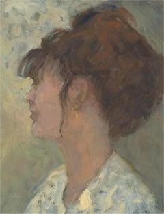 Barbara Doyle (b.1917) - Contemporary Oil, Woman In Profile