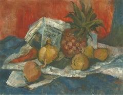 Barbara Doyle (b.1917) - Mid 20th Century Oil, Pineapple Still Life