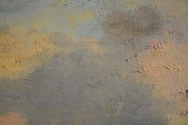 Barbizon Scene - Black Landscape Painting by Unknown