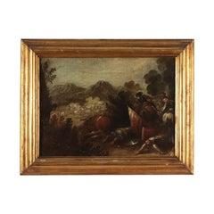 Battle Scene, Oil on Canvas, Neapolitan School 17th Century Italy