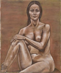 Bay Area Figurative Movement Seated Nude