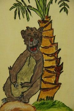 Bear Having Fun Animal Painting