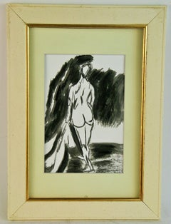 Black and White Nude Figure