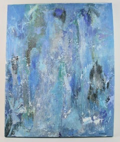 Blue Mist Abstract Painting