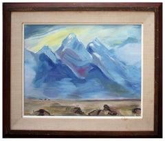 Blue Mountains & Desert Landscape
