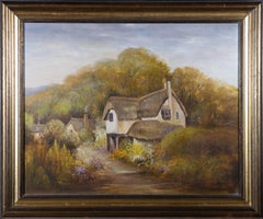 B.M. Denner - 20th Century Oil, Rural Scene with Thatched Cottage