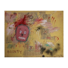 """Bounty"" Basquiat Style Contemporary Abstract Mixed Media Signed Jeremy"