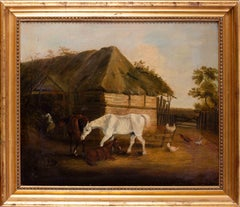 British 18th Century oil painting after John Frederick Herring, A farmyard idyll