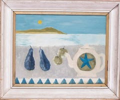British, 20th Century abstract still life painting in the manner of Mary Fedden