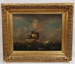 British Navy Maritime Scene, Late 19th Century