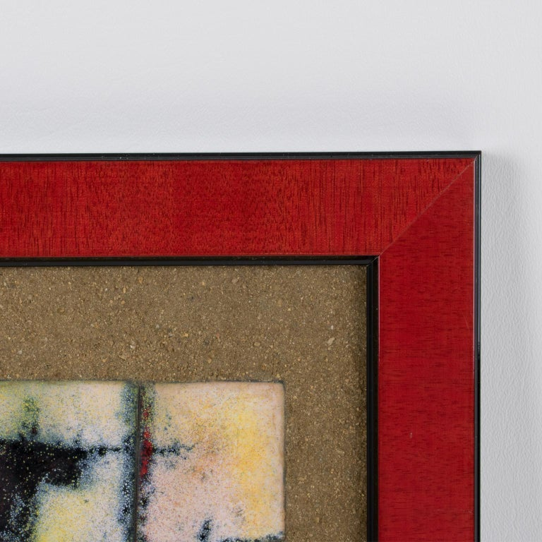 Brutalist Abstract Enamel Mounted Wall Panel Plaque Artwork For Sale 10