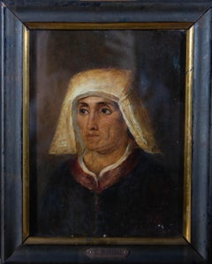 C. Borelli - Late 19th Century Oil, Portrait Of A Medieval Woman