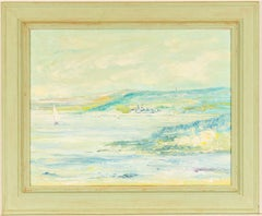 C. Watson  - Signed Contemporary Oil, Coastal Landscape with Sailing Ships