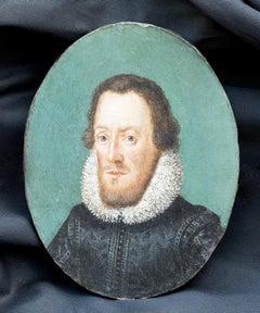 c.1700 Miniature Portrait of Sir Walter Raleigh (Nicholas Hilliard tradition)