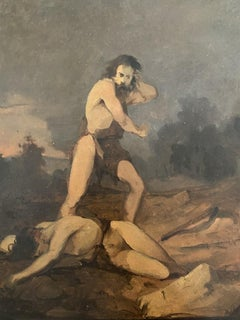 Cain and Abel - Original Oil Paintings - Early 20th Century