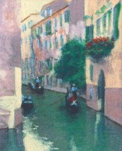 Canal with Gondolas, Venice - Figurative Landscape