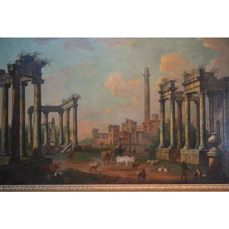Capriccio After Luigi Vanvitelli  - Painting by Unknown