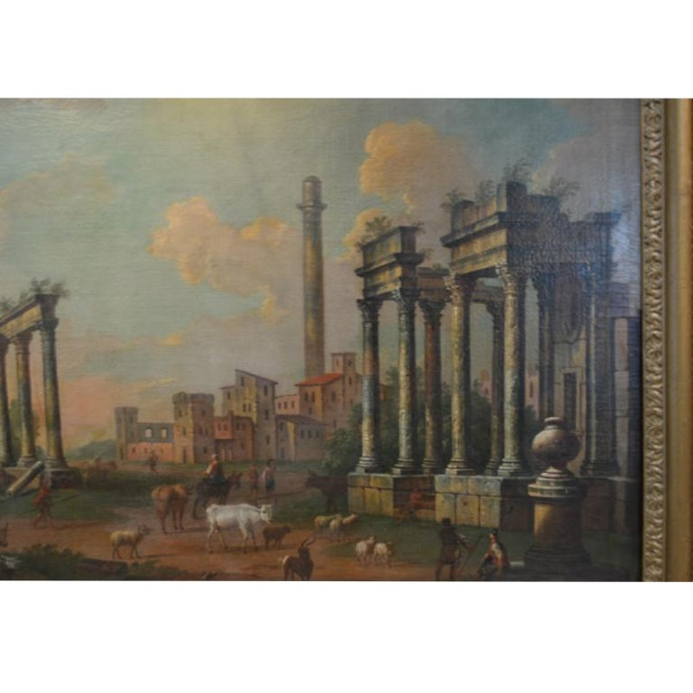Capriccio After Luigi Vanvitelli  - Old Masters Painting by Unknown