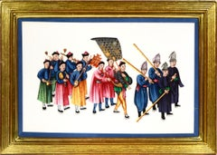 China Export Watercolour on Pith Paper: A Set of Twelve Processions