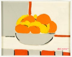 Citrus Fruits - Original Mixed Media by French Master Mid 20th Century