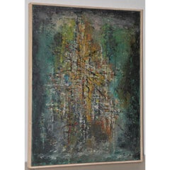 Classic Mid Century Modern Abstract Painting by Solik c.1959