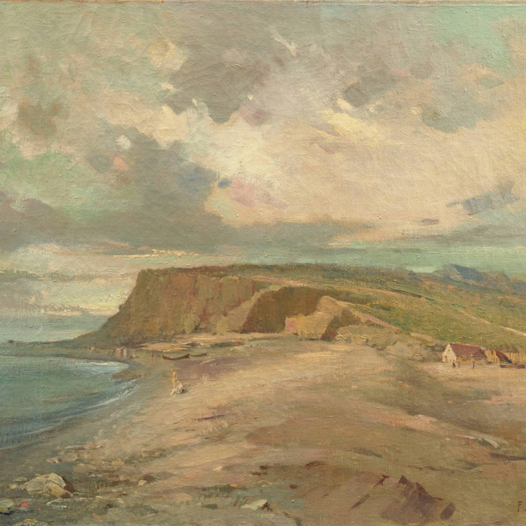 Coastal Landscape - Modern Painting by Unknown