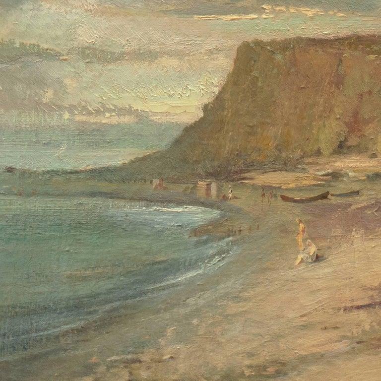 Coastal Landscape - Brown Landscape Painting by Unknown
