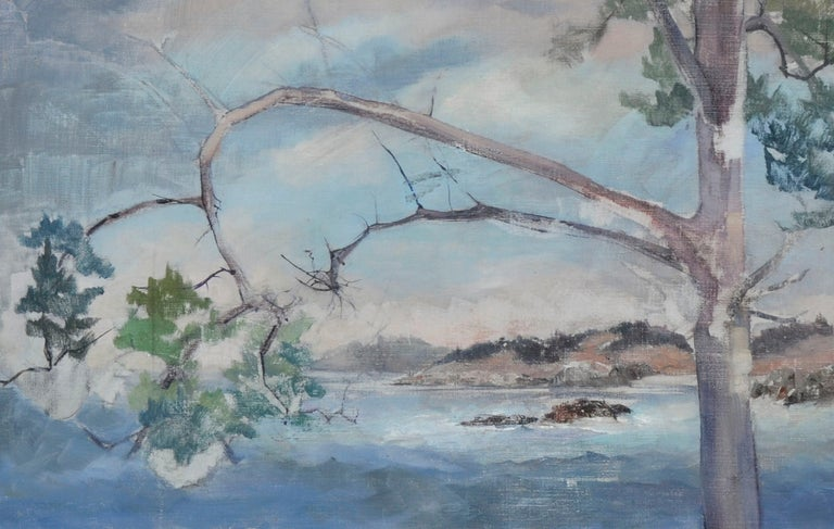 Coastal Tree - Mid Century Landscape  - American Impressionist Painting by Unknown