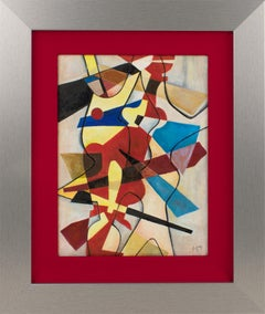 Colorful Abstract Cubist Oil Painting by Monogram MJ