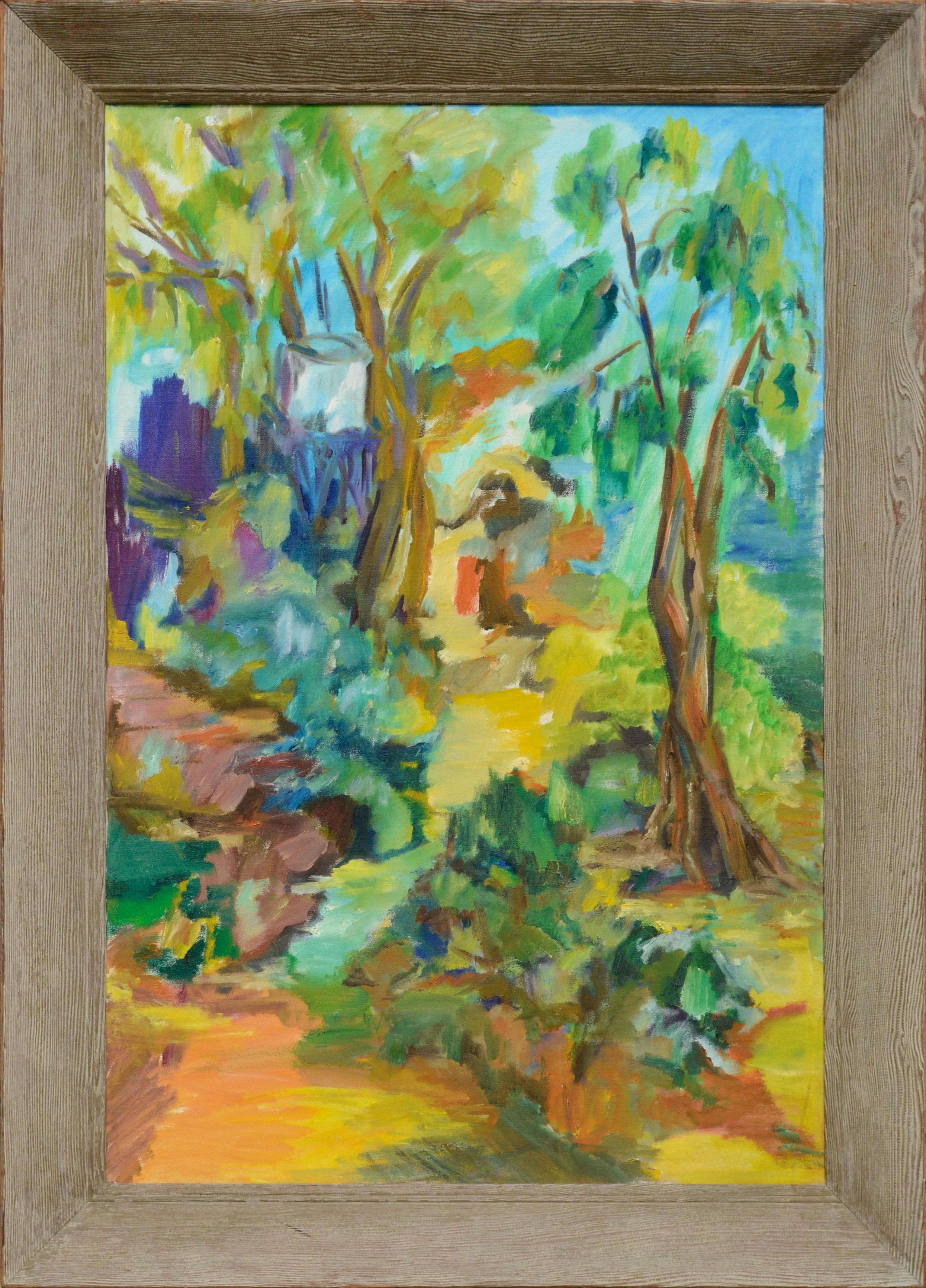 Path Through the Trees - Colorful Abstracted Landscape