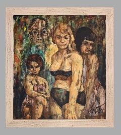 Composition - Original Oil Painting - 1967