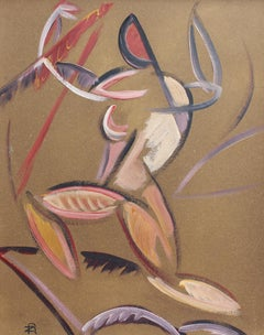 'Composition with Triumphant Figure', Mid-Century Modern Abstract Art, Berlin