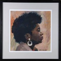 Contemporary Acrylic - Woman in Profile