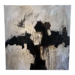 Contemporary Bold Abstract Painting on Canvas