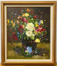Contemporary Floral Still Life Oil Painting 21st Century