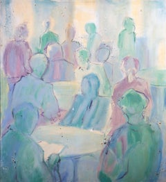 Contemporary Oil - Crowded Tables