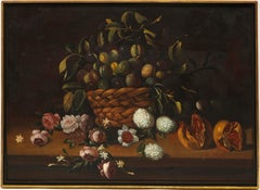 Continental School Still Life of a Basket of Figs