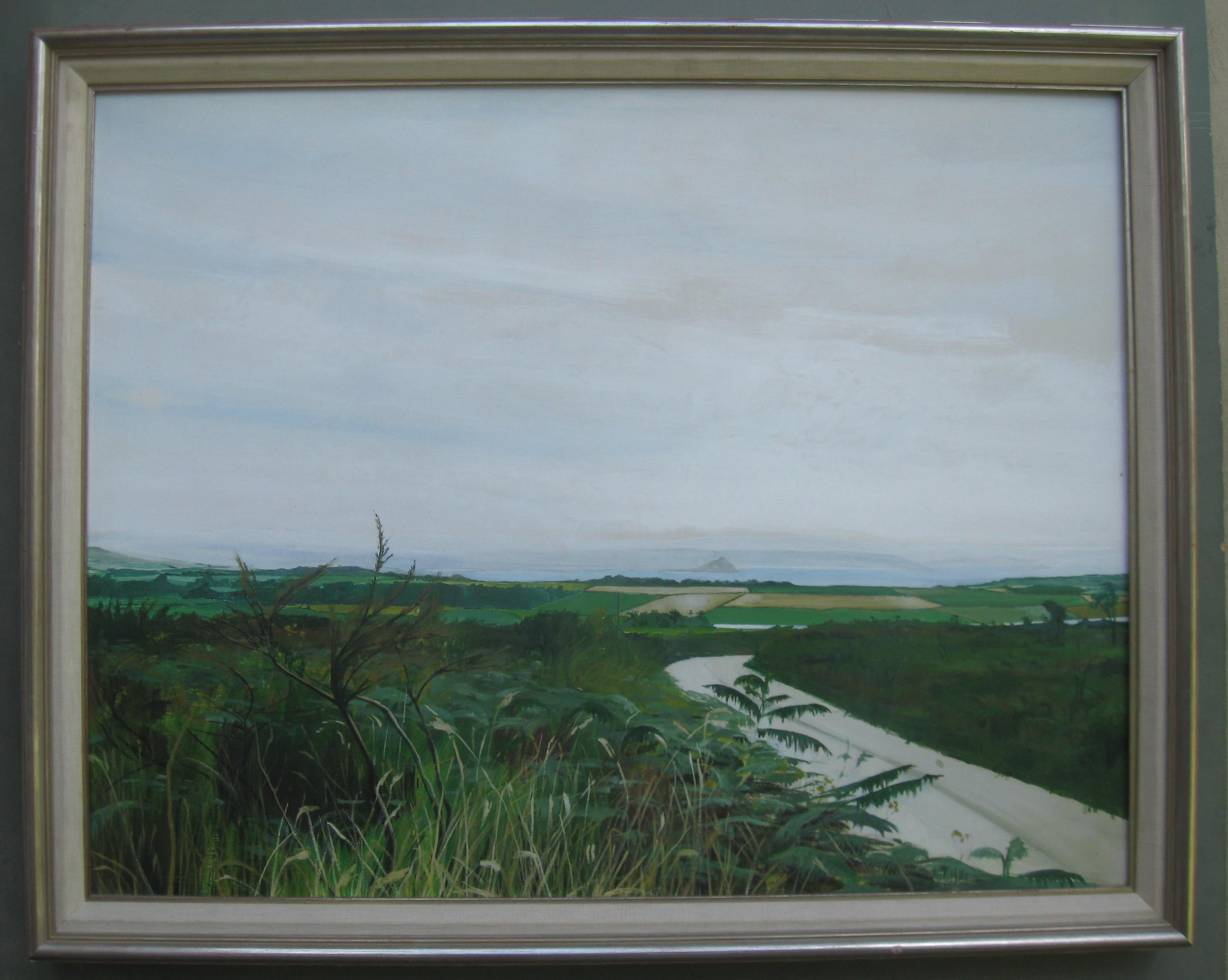 Large Modernist: Cornwall, View of Fields and Mounts Bay with St Michaels Mount