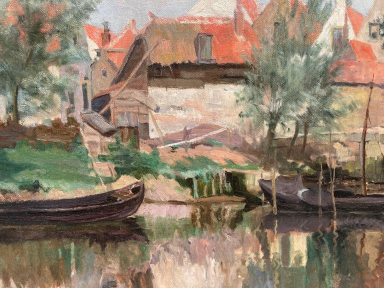 Cottage by a Bridge - Painting by Unknown