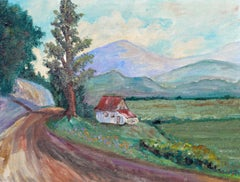 Country Home in Spring - Mid Century Landscape