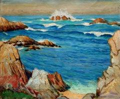 Crashing Waves Big Sur California Seascape