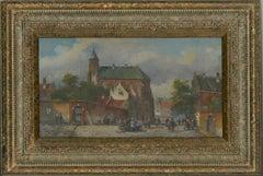 Daniel Szeberenyi (b.1949) - 20th Century Oil, Lively Street Scene