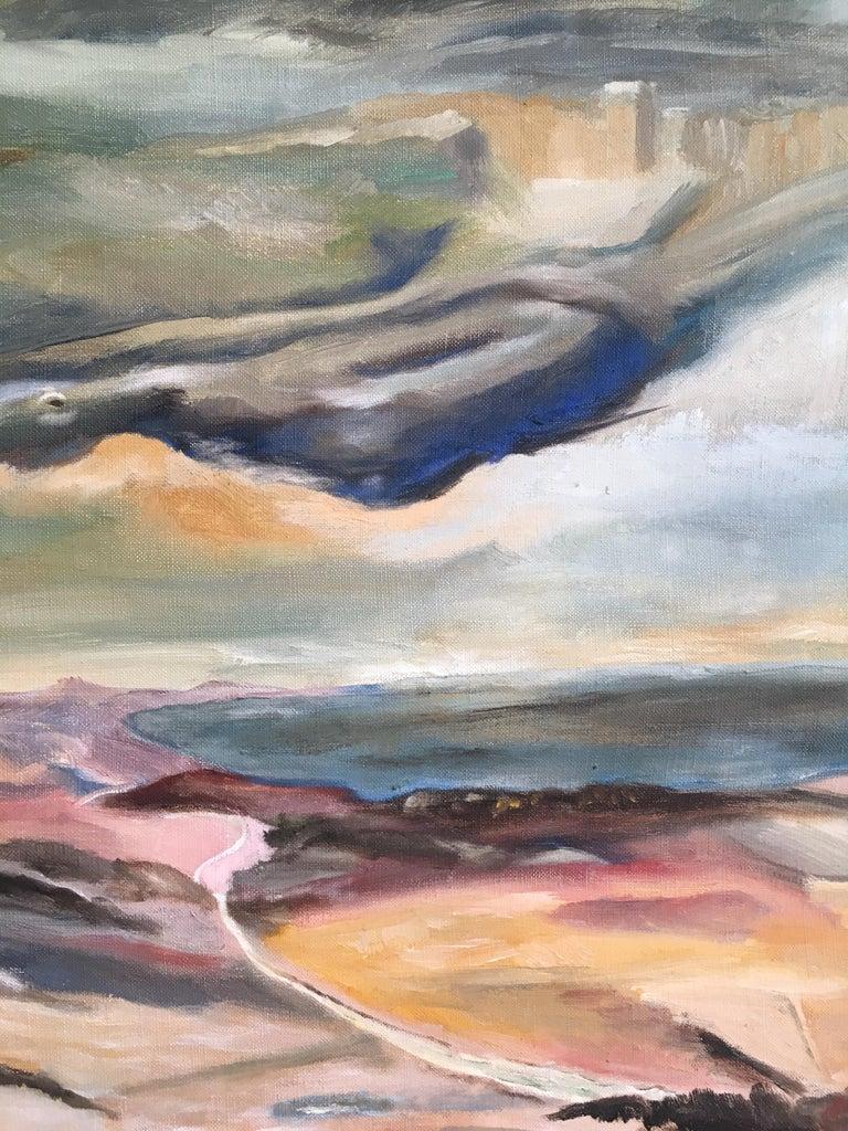 Dark Skies, Stylised Impressionist Oil Painting For Sale 1