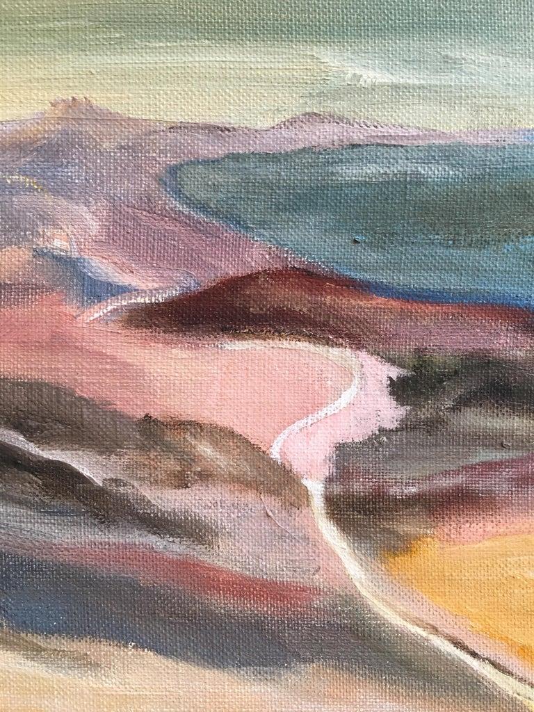 Dark Skies, Stylised Impressionist Oil Painting For Sale 2