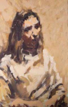David Wilson (1919-2013) - C.1966 Oil, Study Of Mary Cheal
