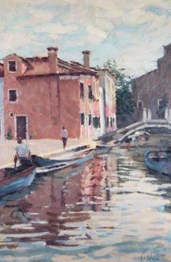 David Wilson (1919-2013) - Contemporary Oil, A Venetian Canal