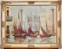 Decorative painting, oil on canvas. Magnificent view of Venice.