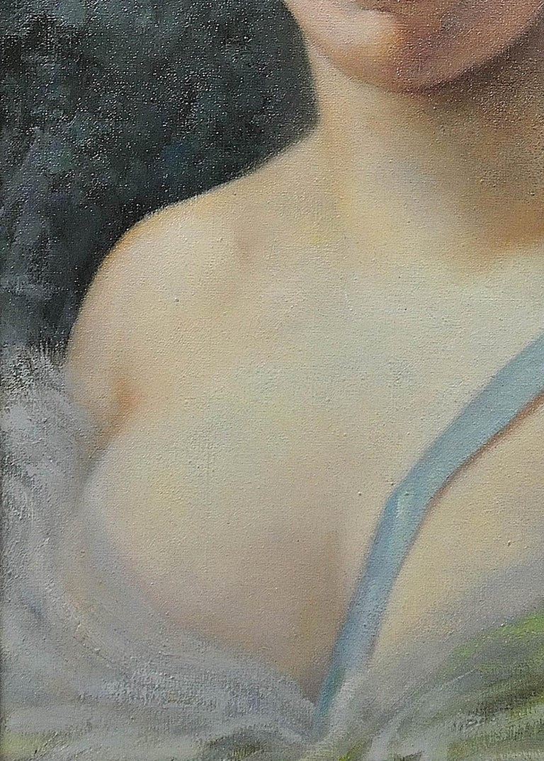 Diana, the Huntress. After Seignac and Corcos. Original oil. A decorators piece. For Sale 3